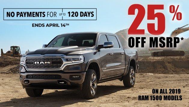 RAM truck 1500 offers