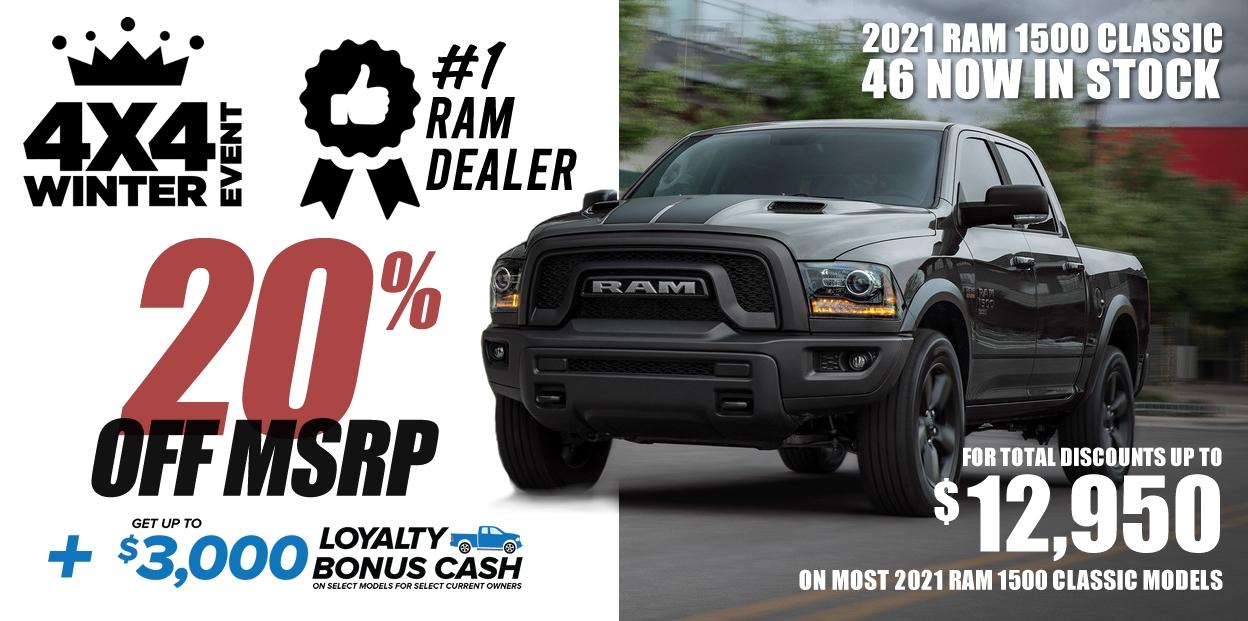 2021 ram 1500 classic offers
