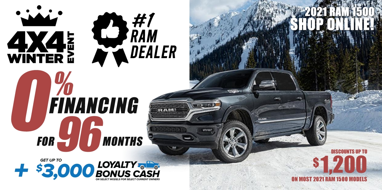 2021 RAM 1500 discounts and offers